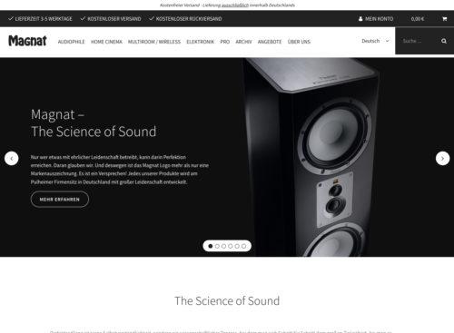 Markenwebsite mit PIM-Anschluss