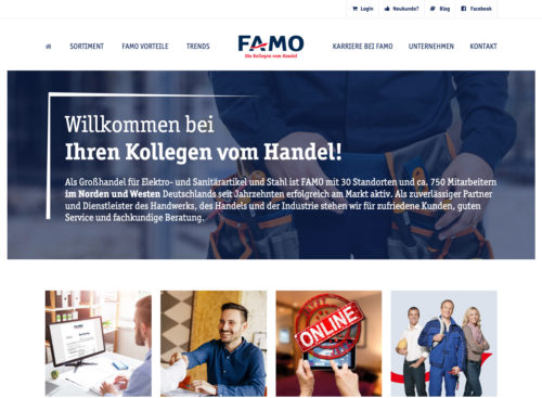 Corporate Website mit Portal-Anschluss