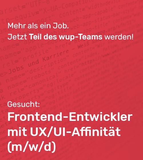 Frontend-Entwickler gesucht (m/w/d)